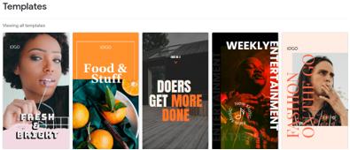 templates web stories